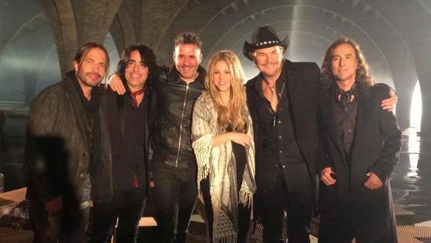 Maná y Shakira se unen para grabar tema en conjunto