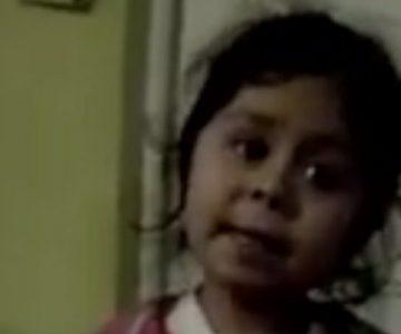 El tierno reto de una niña a su papá porque no quiere comer