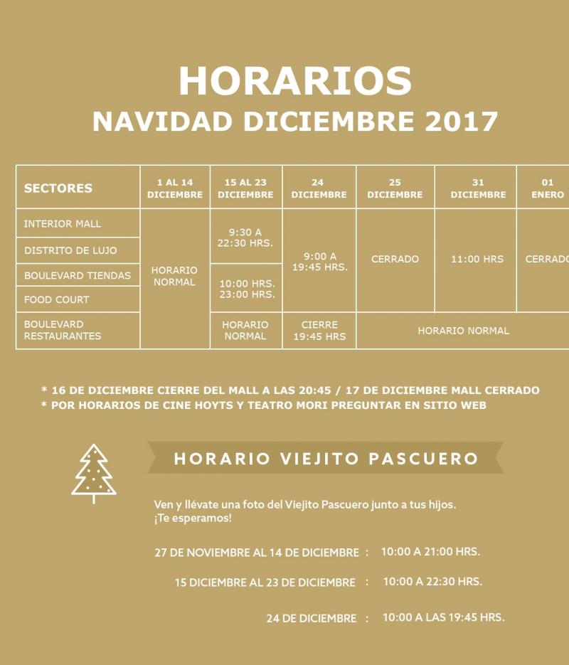 Conoce los horarios especiales del comercio en navidad for Horario ministerio del interior
