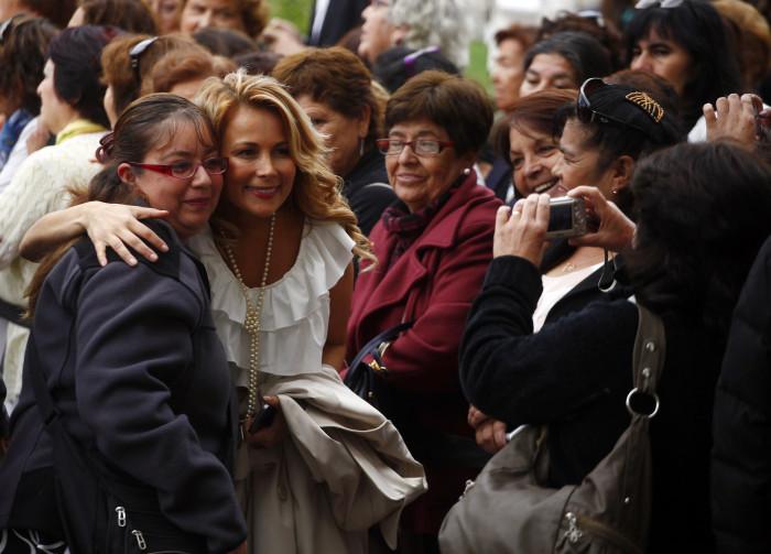 27 Marzo de 2014/SANTIAGO La Consejera regional por la circunscripci—n Santiago, Cathy Barriga, durante la firma del Proyecto de Ley para crear el Ministerio de la Mujer y de la Equidad de GŽnero, realizada en el Patio de Los Naranjos del Palacio de La Moneda. FOTO: SEBASTIçN RODRêGUEZ/AGENCIAUNO