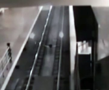 """El escalofriante registro de un """"supuesto"""" tren fantasma que recoge pasajeros"""