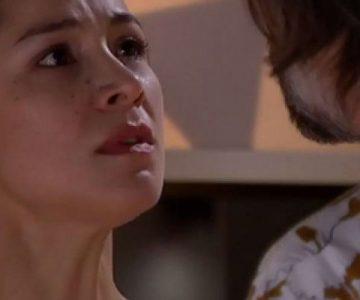 Loreto Aravena muestra el rostro de Josefa luego de la golpiza de Marco