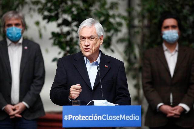 Chile lanza ayudas por 1.500 millones de dólares para mermada clase media